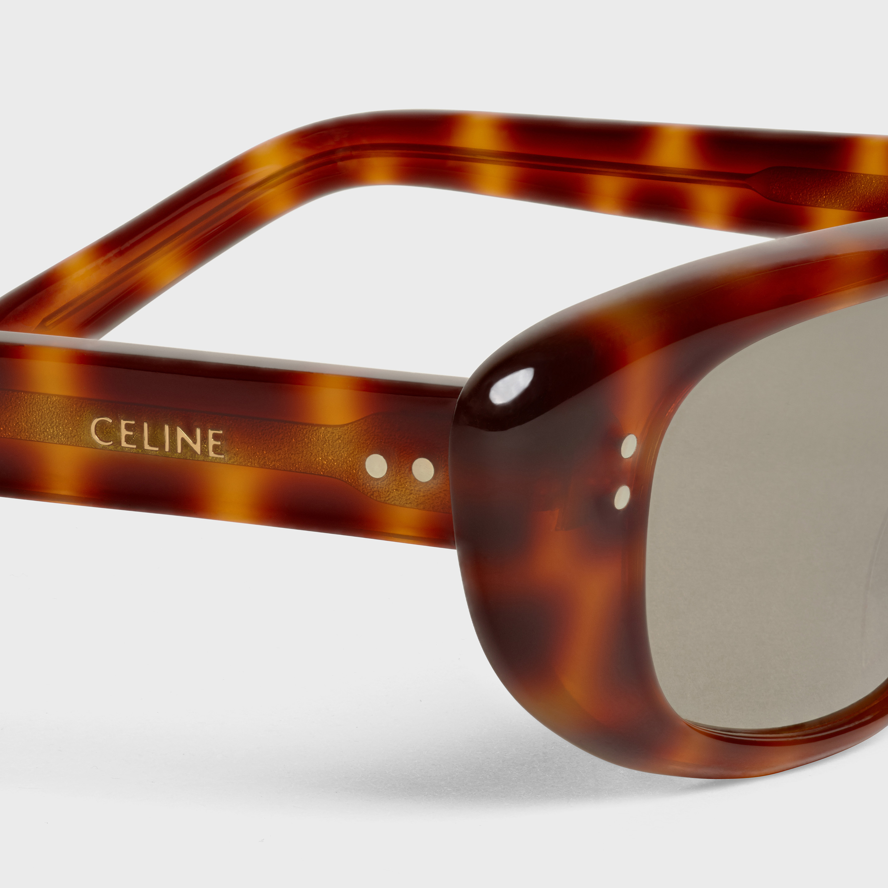 Cat Eye sunglasses in Acetate with Mirror Lenses | CELINE