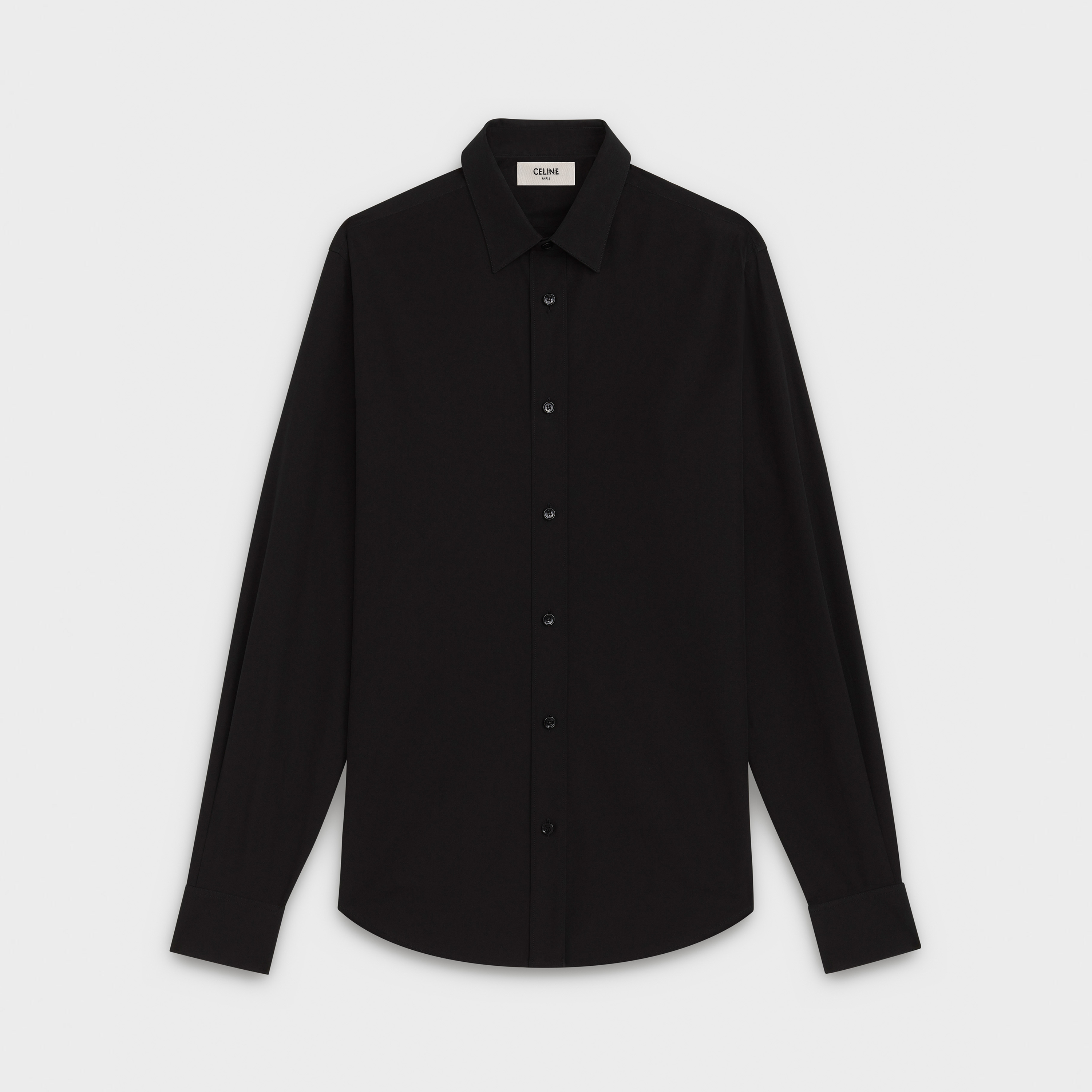 classic shirt in chambray with modern collar | CELINE