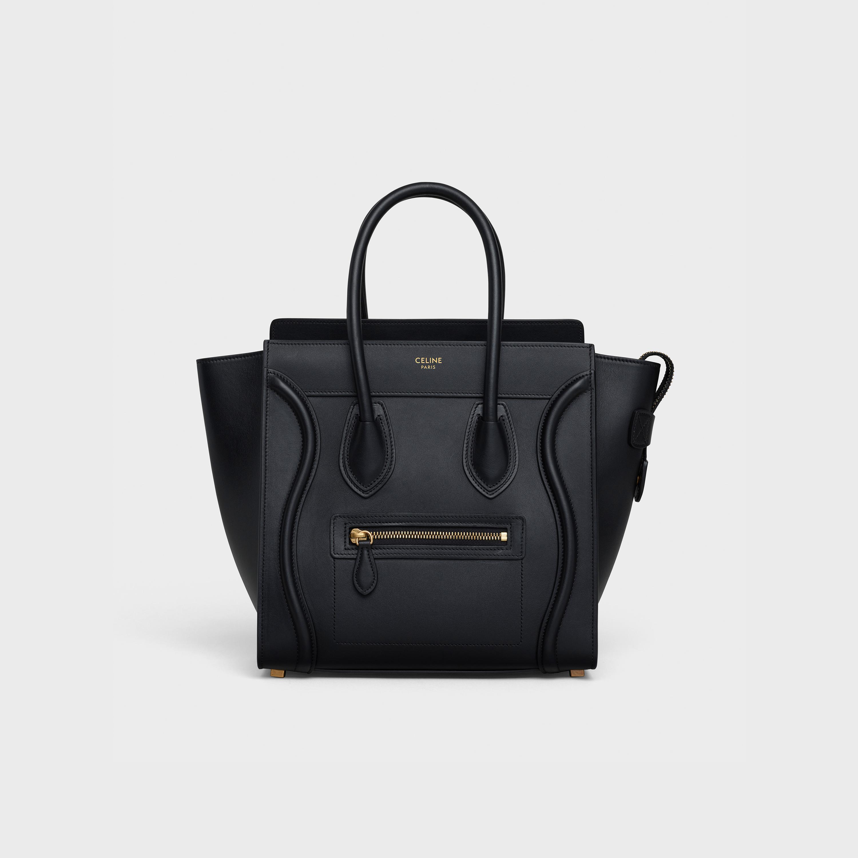 Micro Luggage handbag in smooth calfskin - Black - Official website ... 07524cbf46189