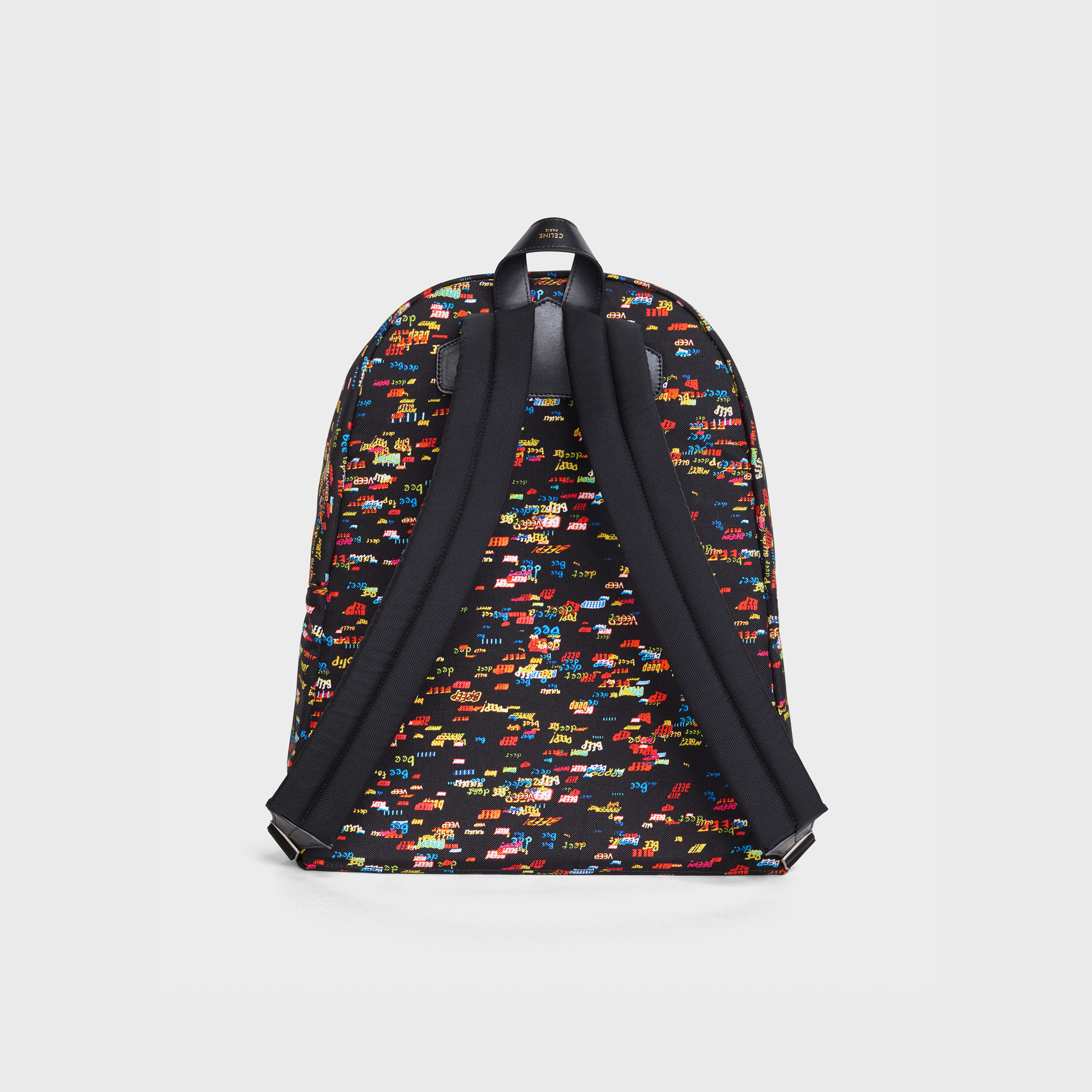 MEN - Medium Backpack in nylon printed CHRISTIAN MARCLAY 'BEEP' | CELINE