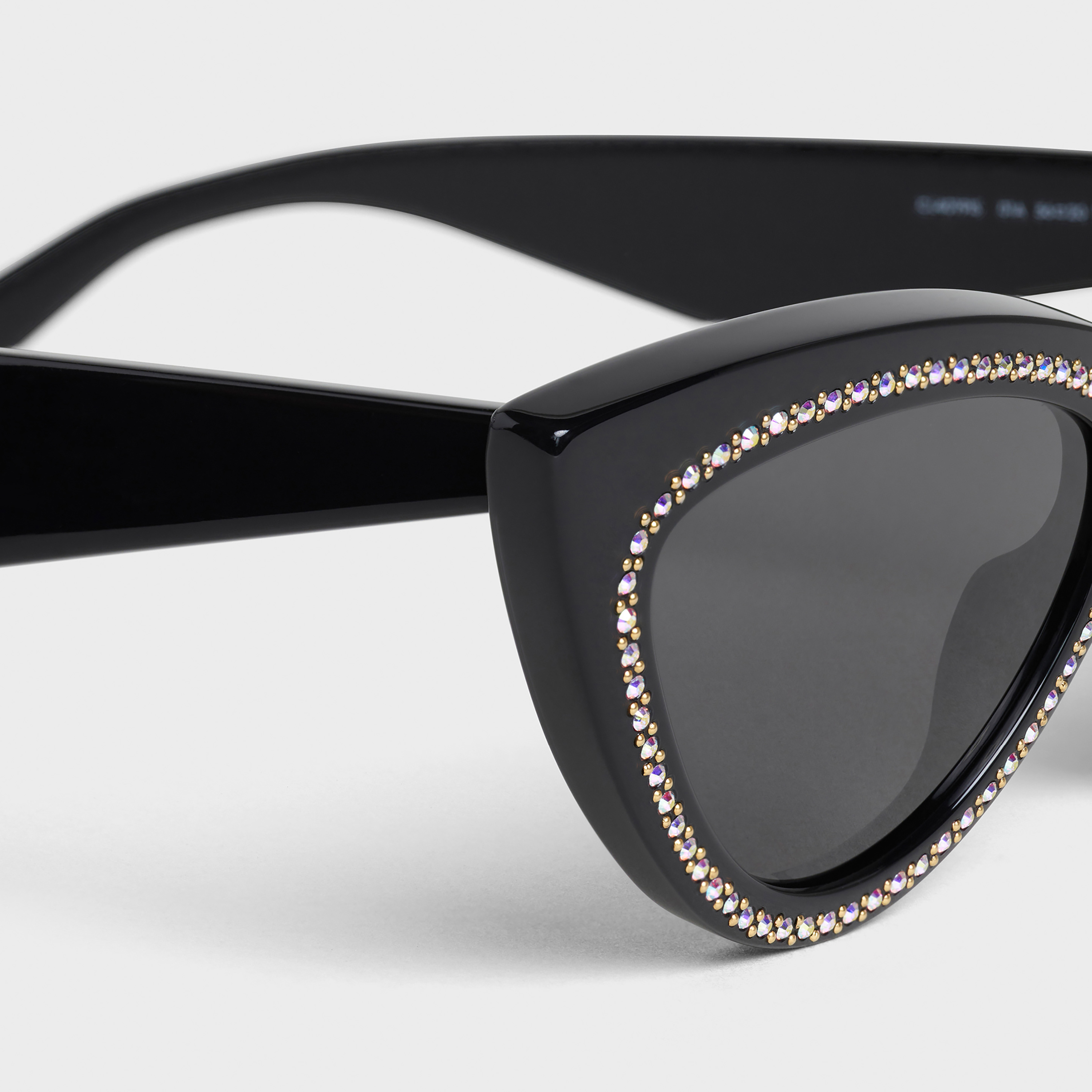 Cat Eye Sunglasses in Acetate and Crystals | CELINE