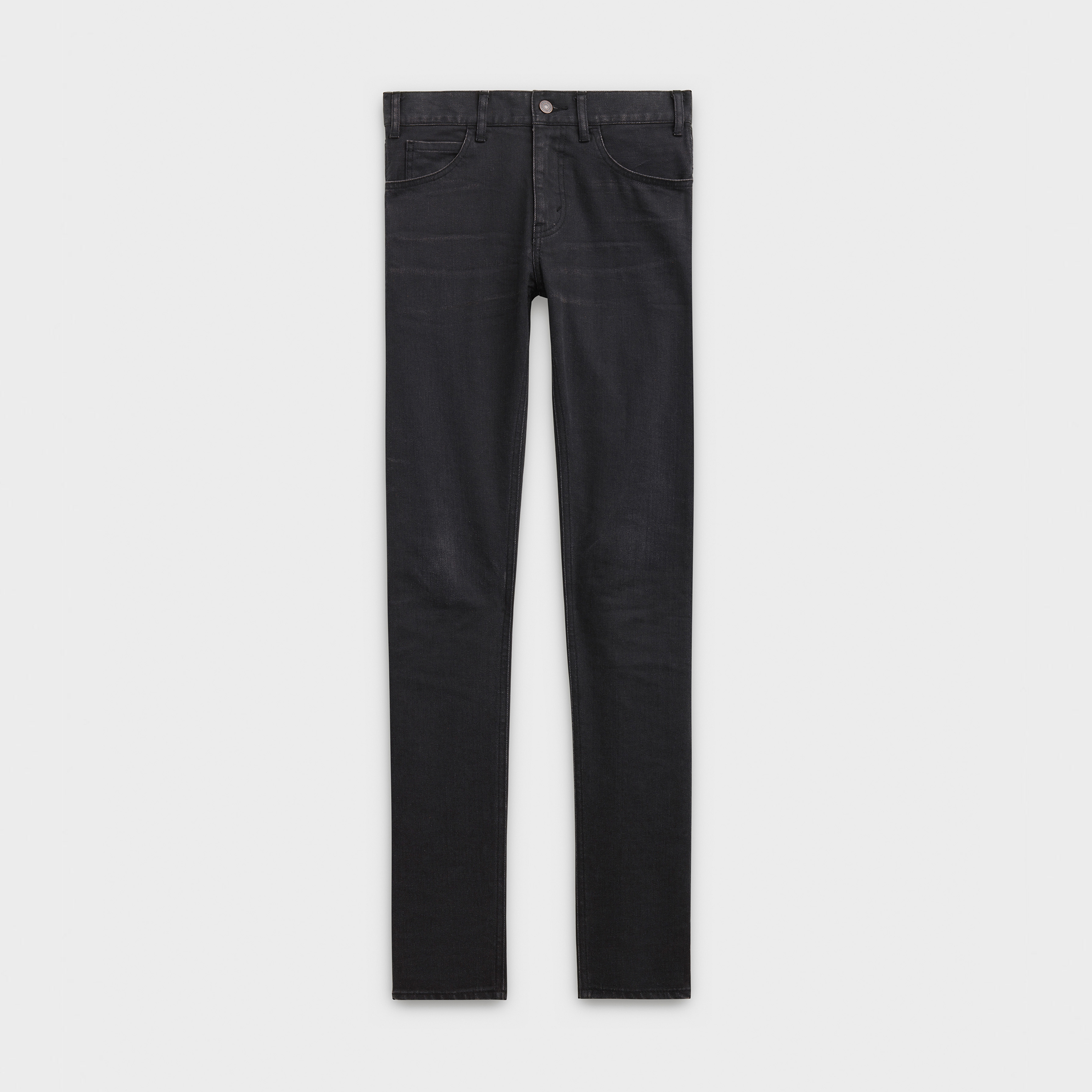skinny pants low waist in black denim | CELINE