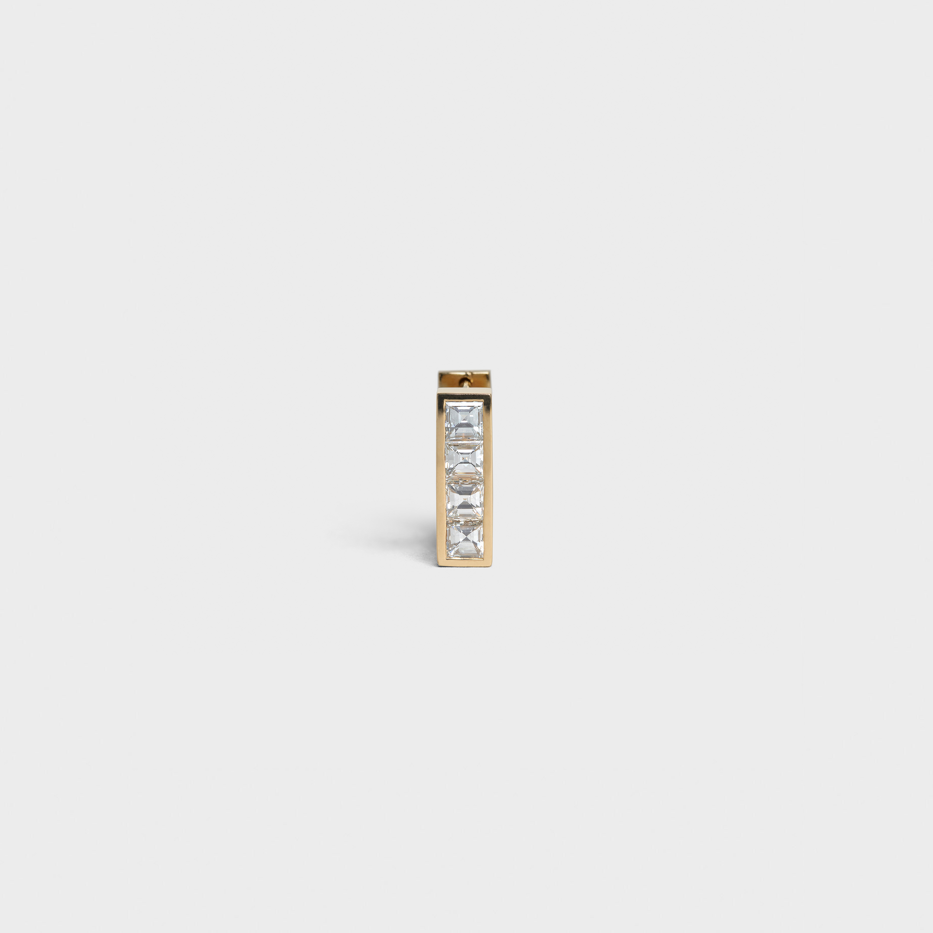 Celine Sentimental Pavée Square Earring in Yellow Gold and Diamond | CELINE