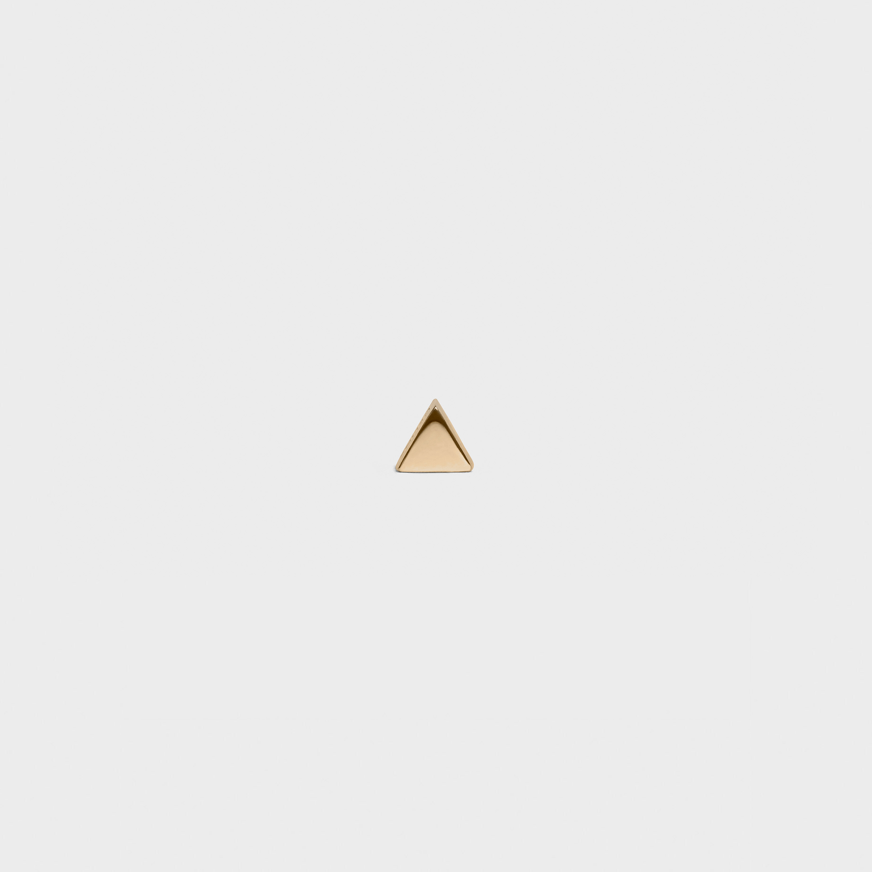 Celine Sentimental Triangle Stud in Yellow Gold | CELINE