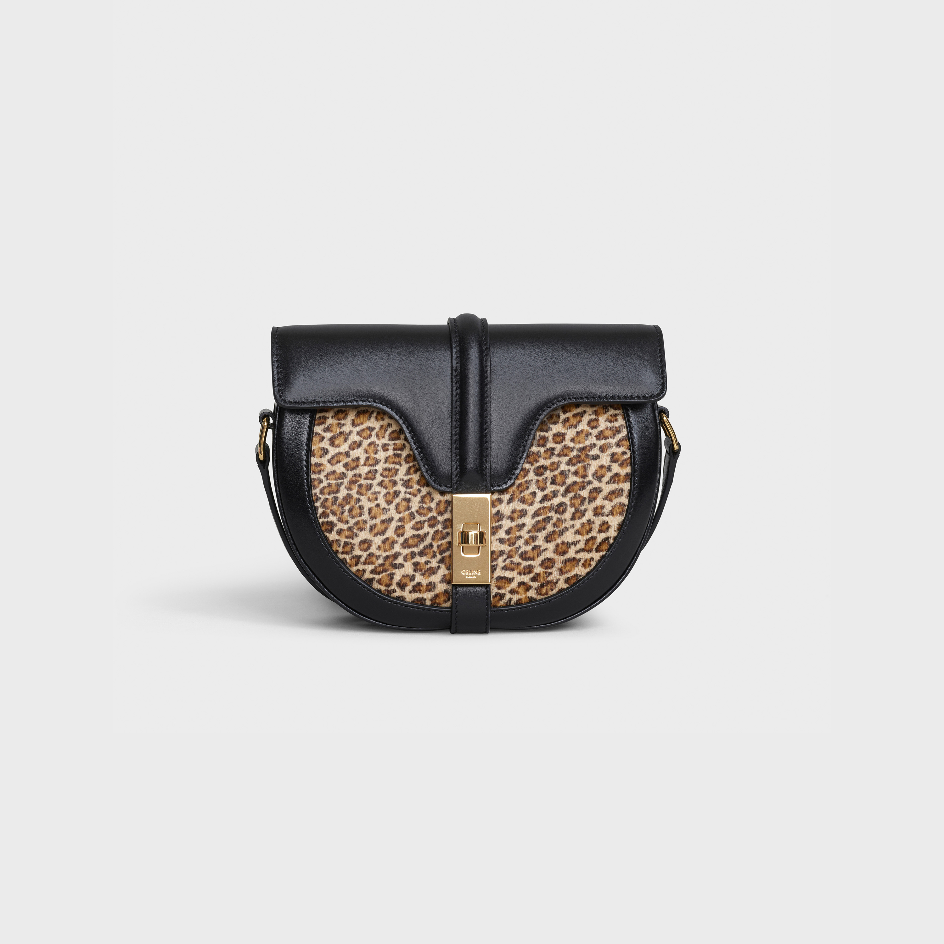 Small Besace 16 Bag in pony calfskin with leopard print | CELINE