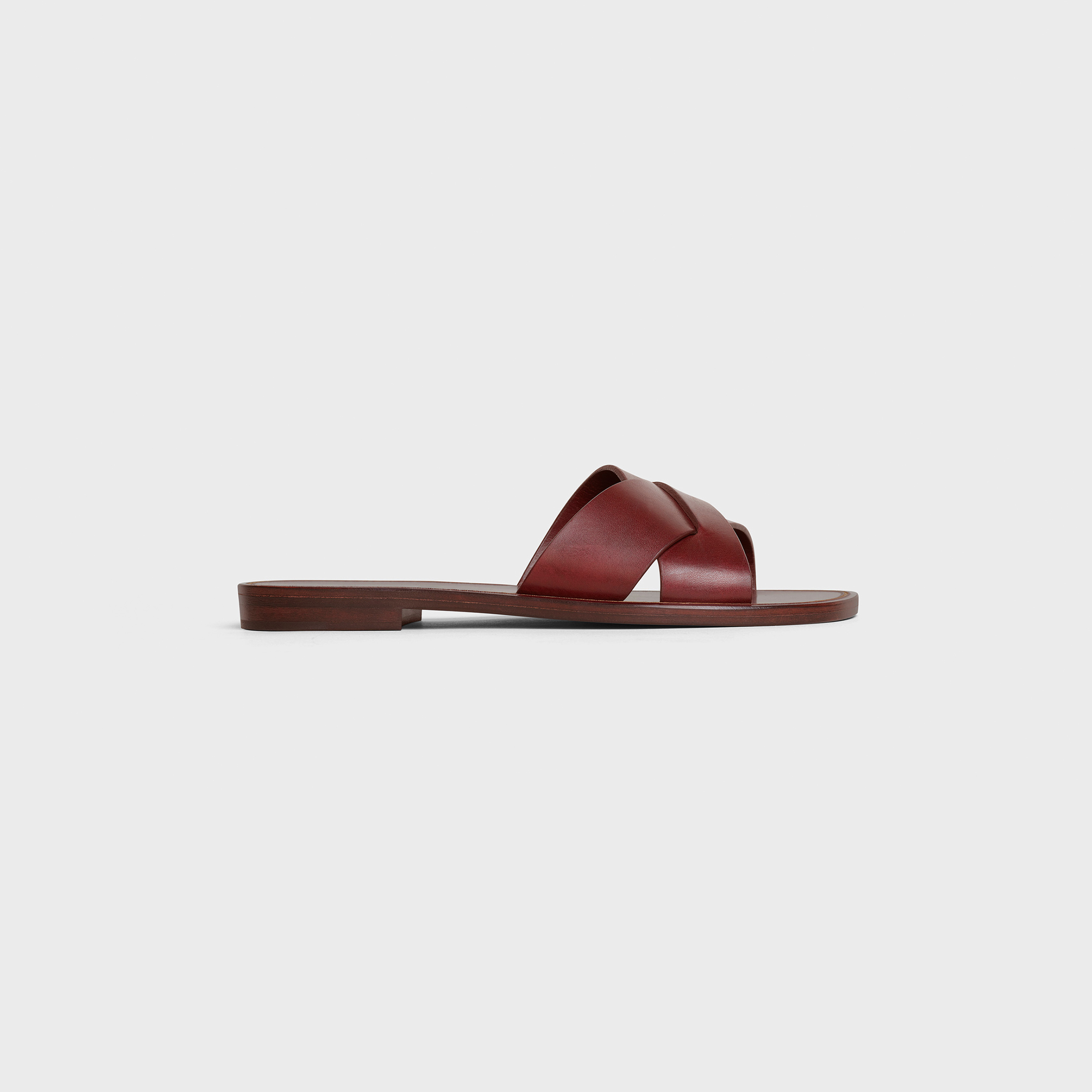 CELINE LERINS Criss cross slides in Vegetal Calfskin | CELINE