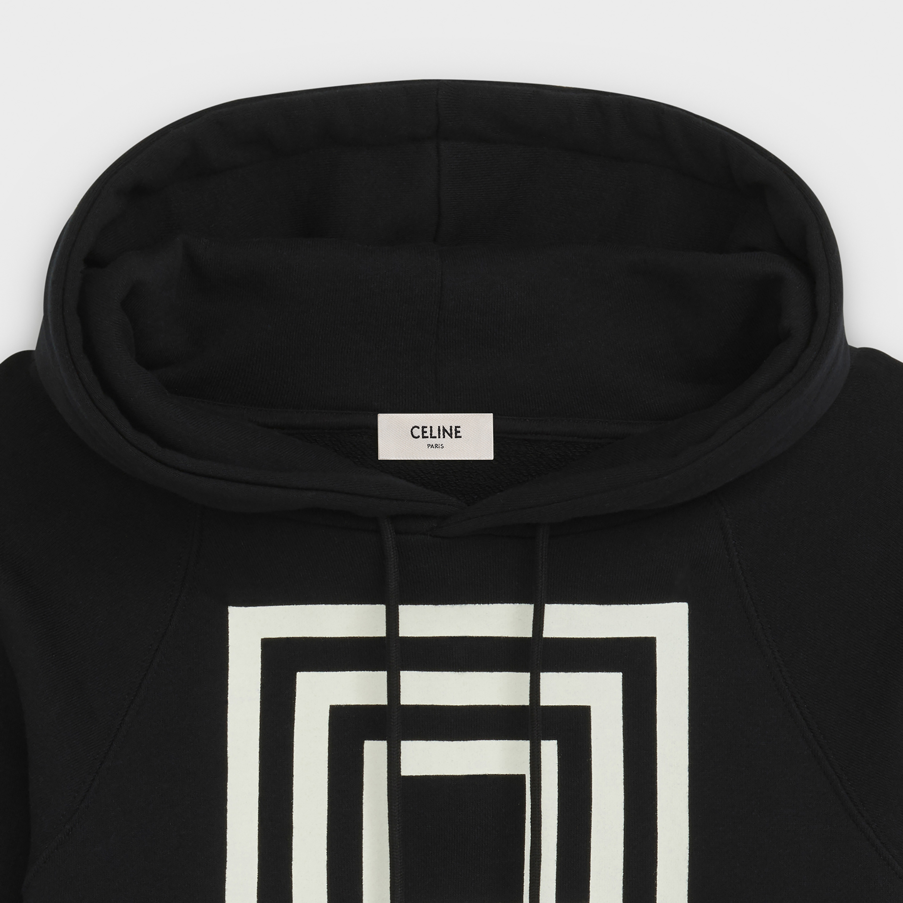 classic sweatshirt in 'LABYRINTHE' SHOW INVITATION PRINTED FLEECE | CELINE
