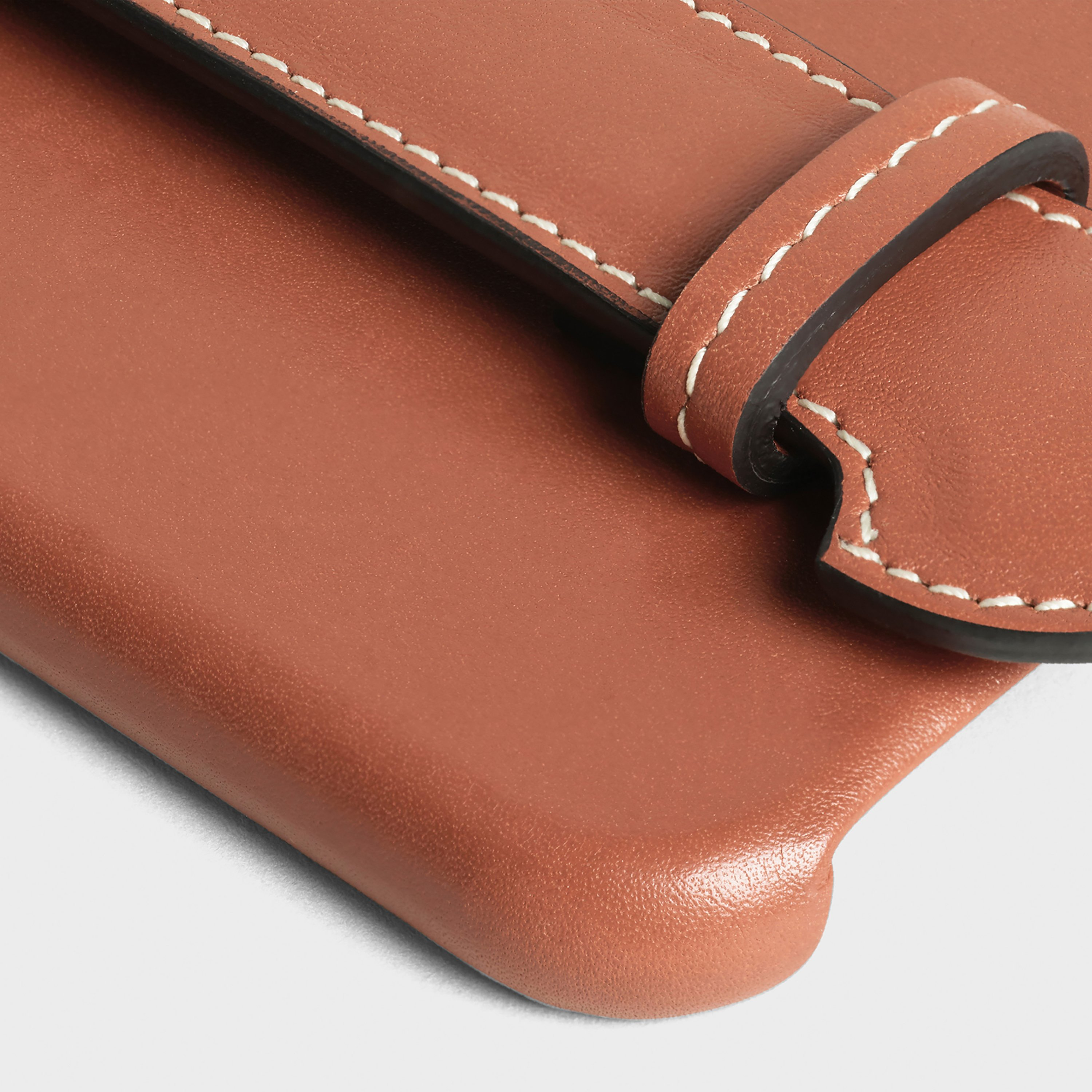 Iphone X & XS case with strap in smooth calfskin | CELINE