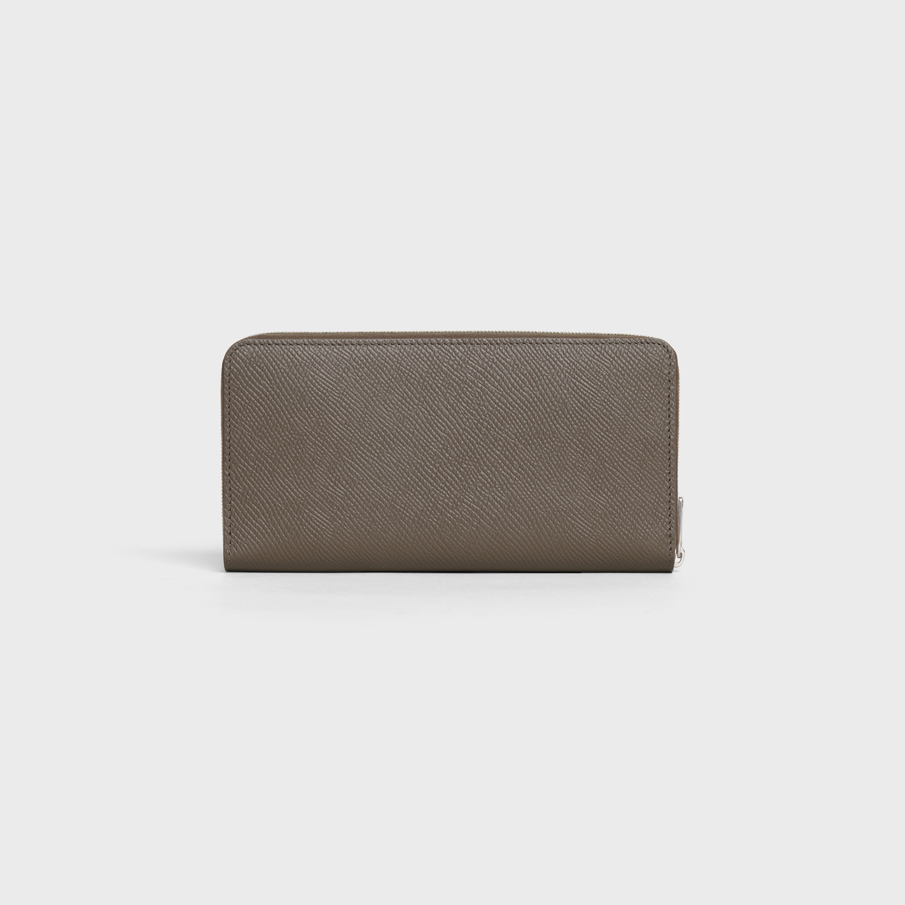 Large zipped wallet in Grained calfskin | CELINE