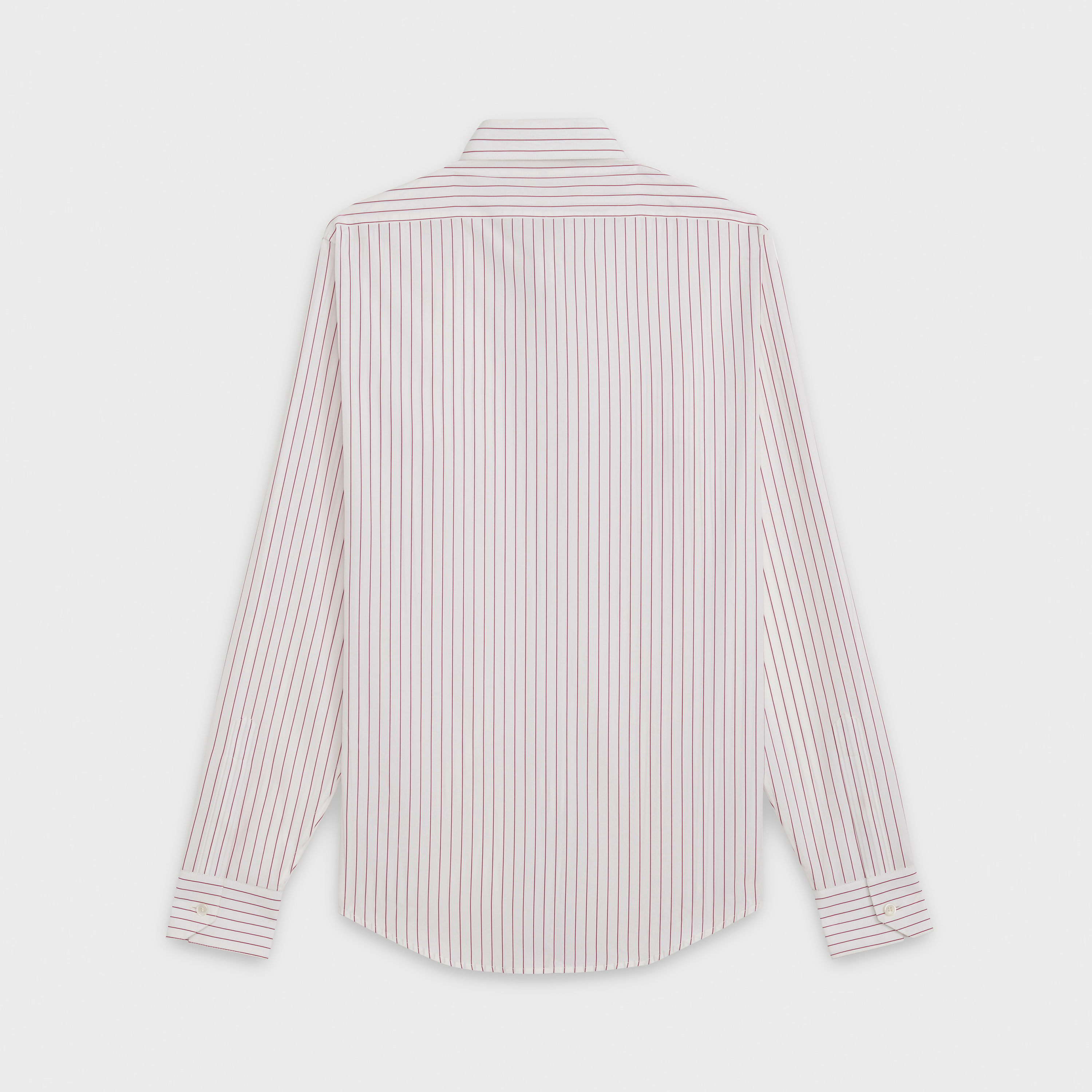 classic shirt in striped poplin with modern collar | CELINE