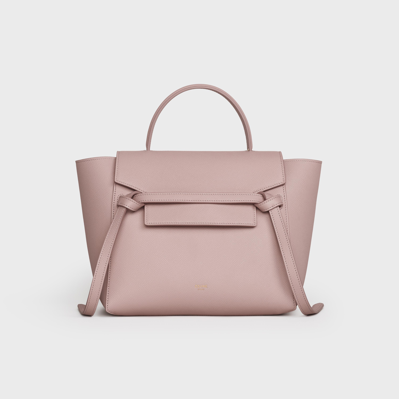 Micro Belt Bag In Grained Calfskin Vintage Pink 189153zva 25vp Celine