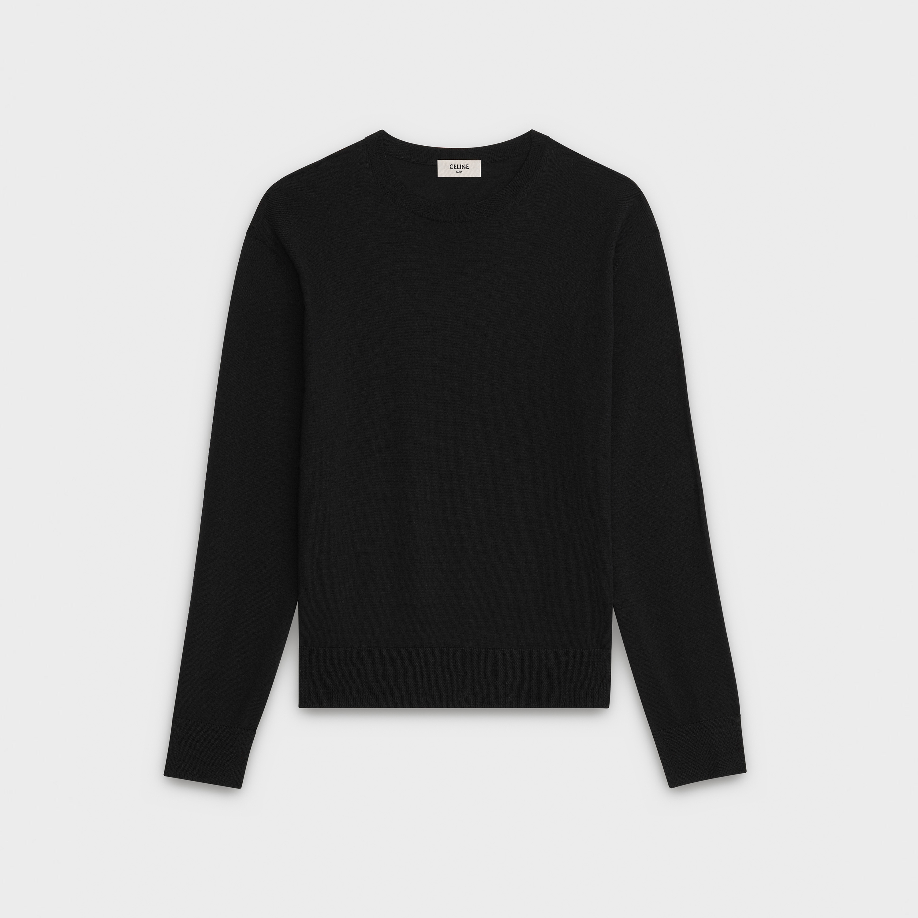 crew neck sweater in merino wool | CELINE