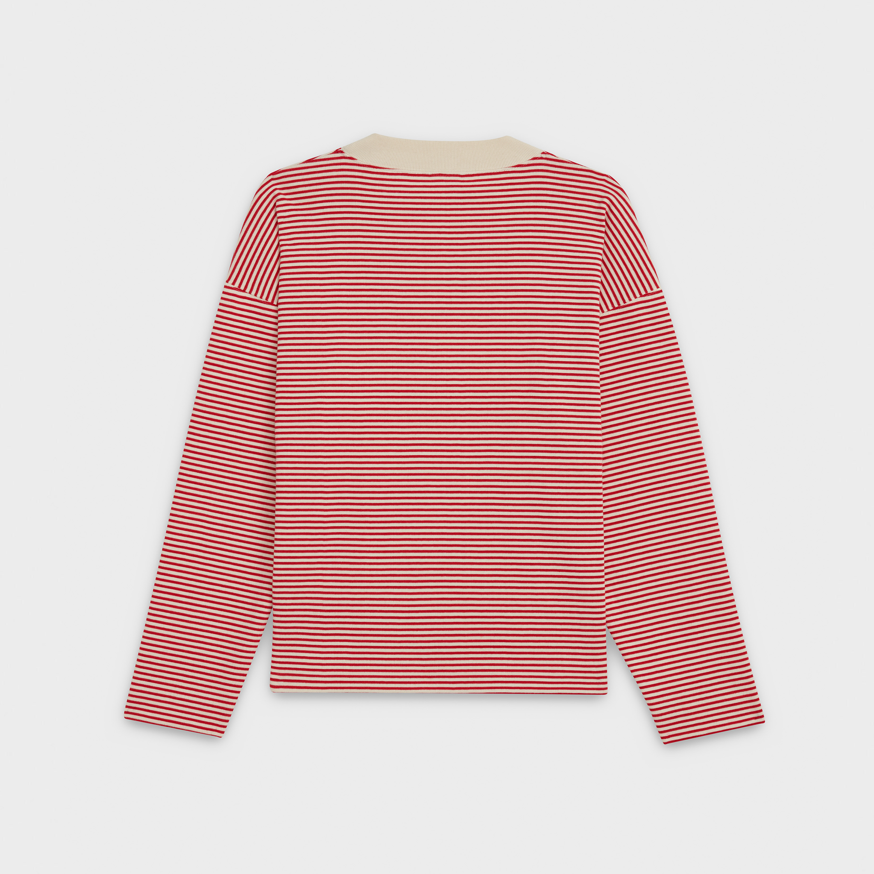 oversize t-shirt with long sleeves in striped cotton | CELINE