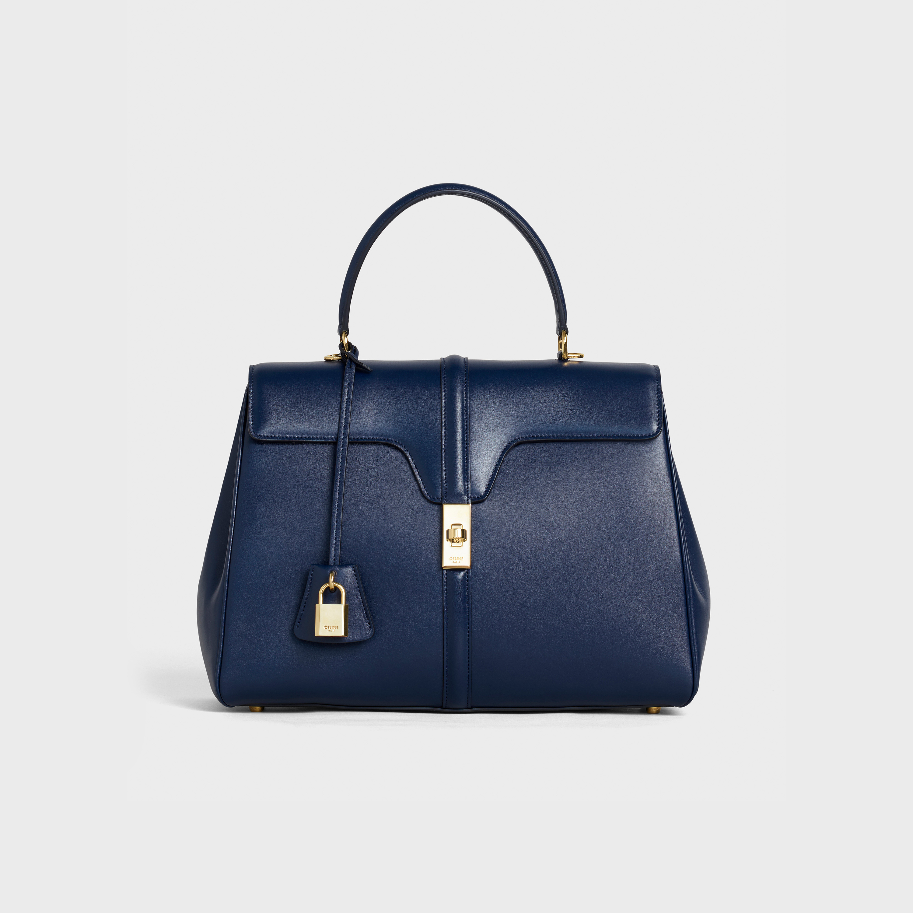 Medium 16 Bag in Satinated Calfskin - Dark blue