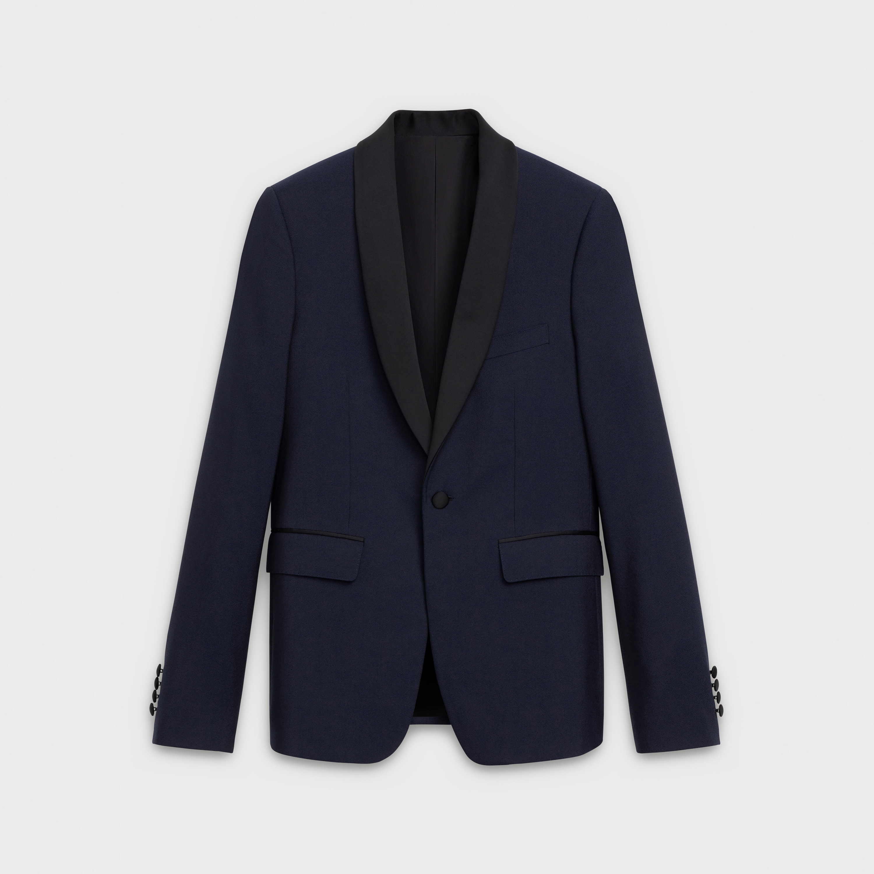 Short tuxedo jacket in wool crepe | CELINE