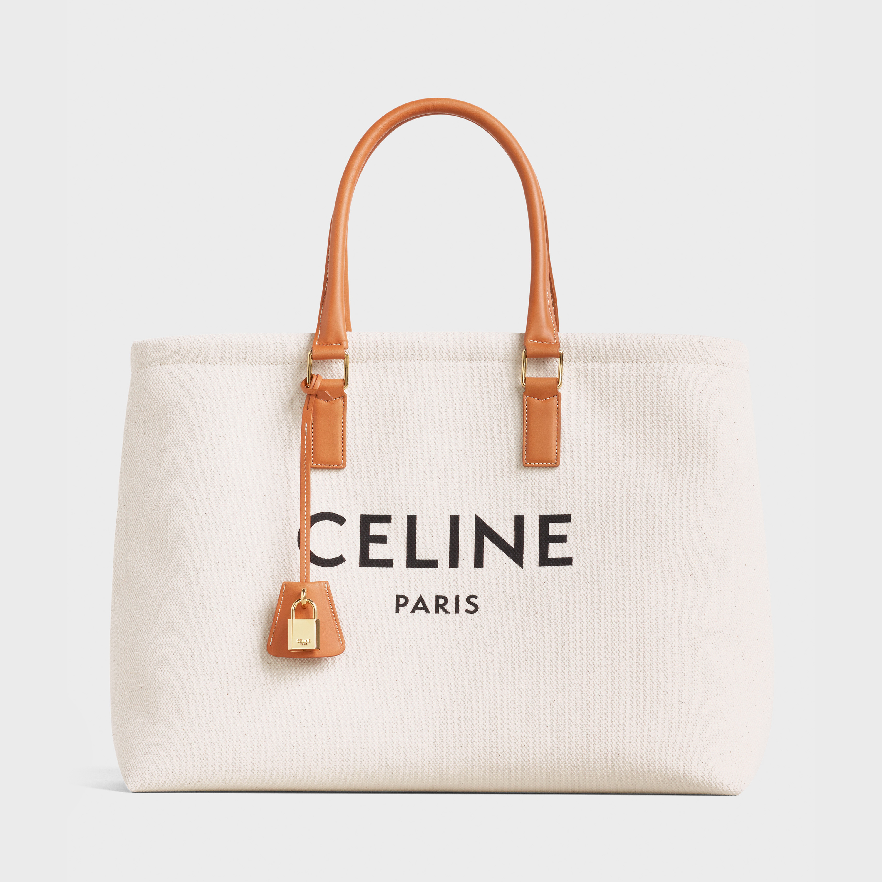Horizontal Cabas Celine in Canvas with Celine print and calfskin | CELINE