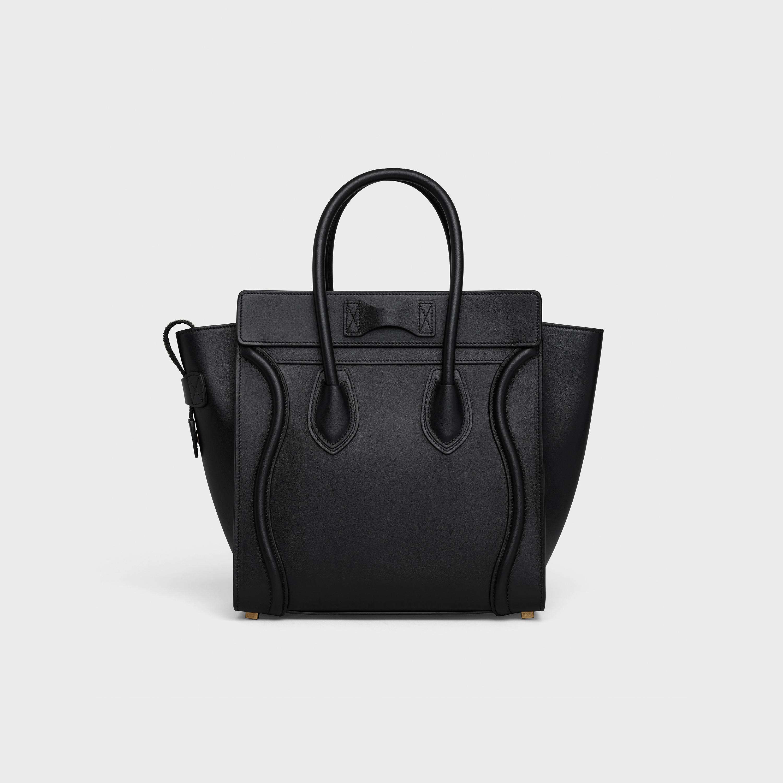 Calfskin Micro Luggage Handbag In Smooth Calfskin Celine