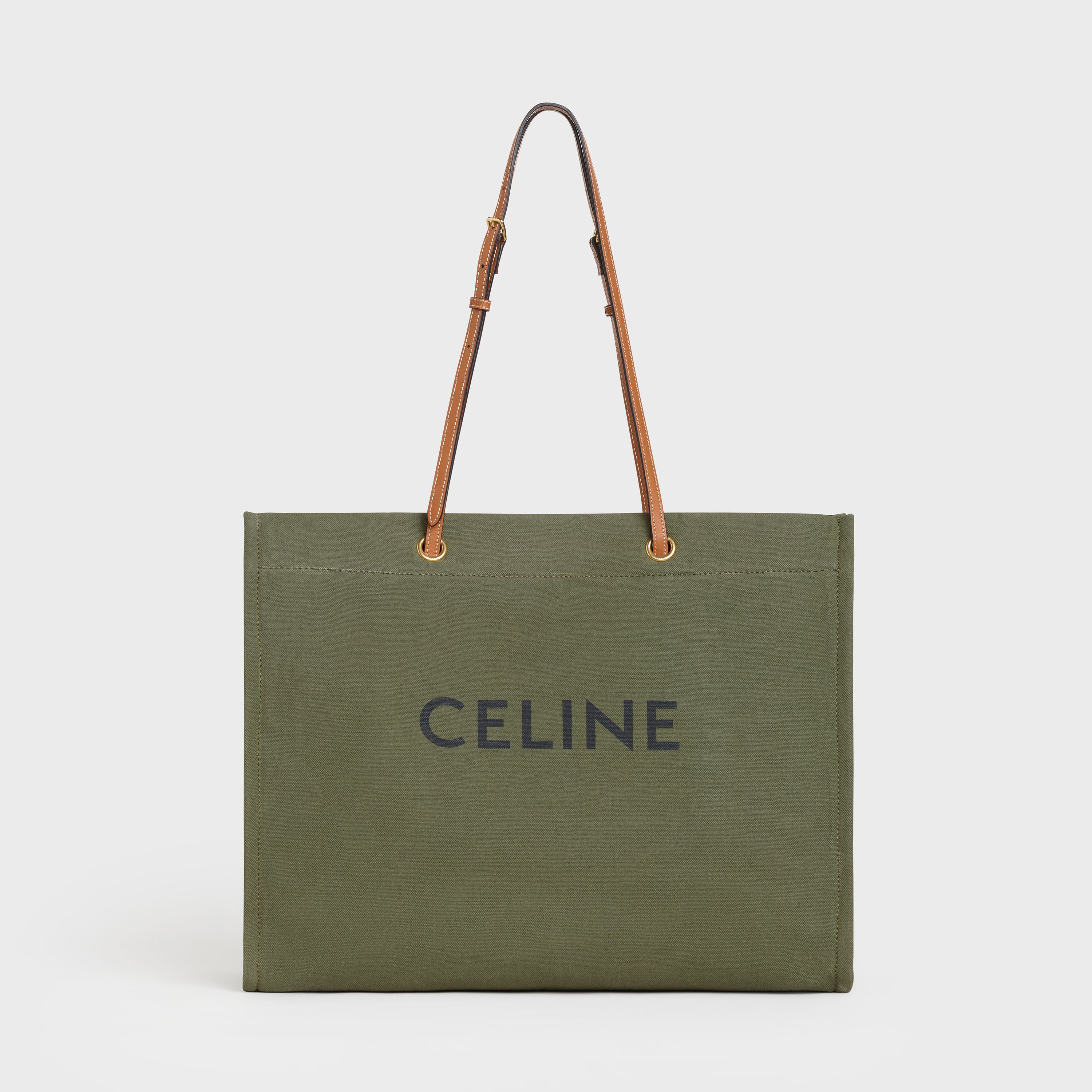 Squared Cabas Celine in Textile with Celine Print and Calfskin
