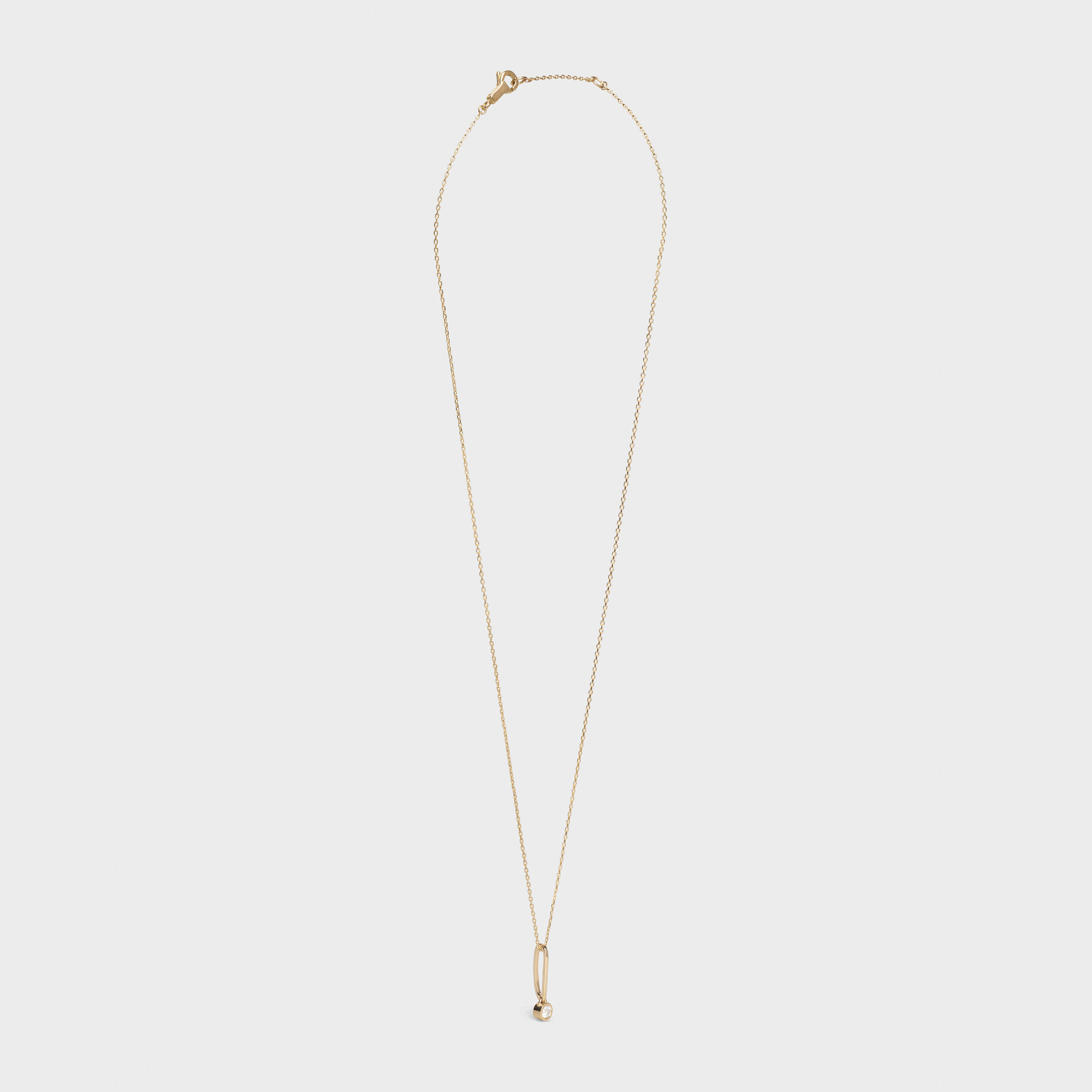 Celine Sentimental Brilliant Necklace in Yellow Gold and White Diamond | CELINE