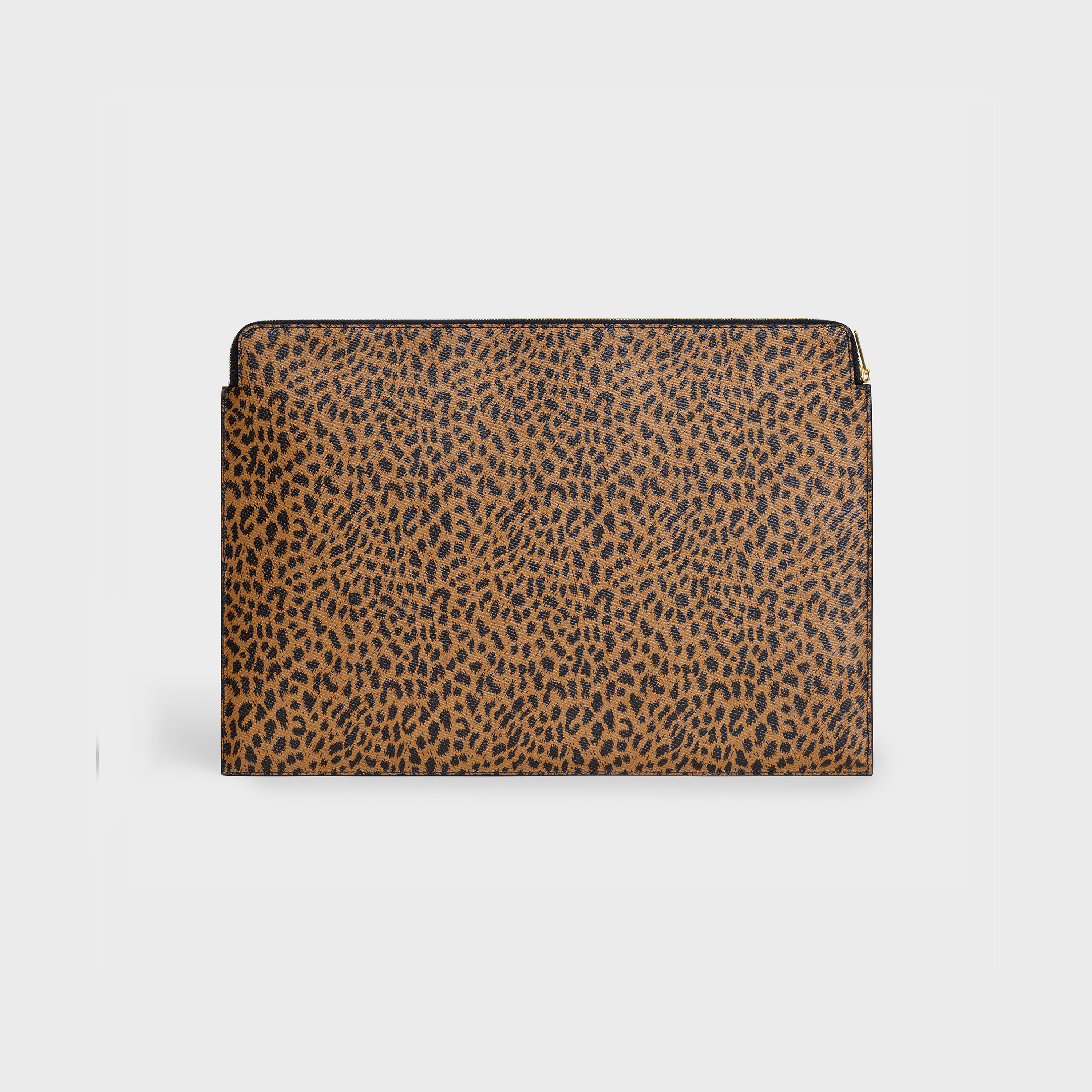 Document holder in Grained Calfskin with Leopard Print | CELINE